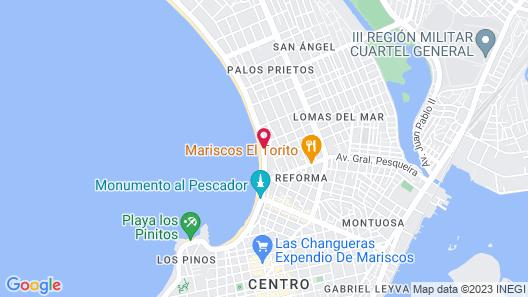 Hotel Hacienda Mazatlán Map