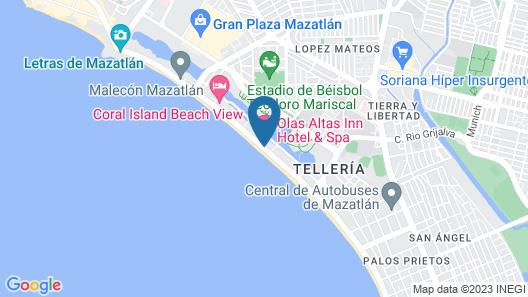 Olas Altas Inn Hotel & Spa Map