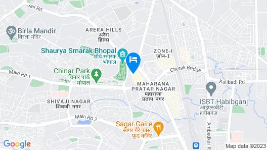 Courtyard by Marriott Bhopal Map