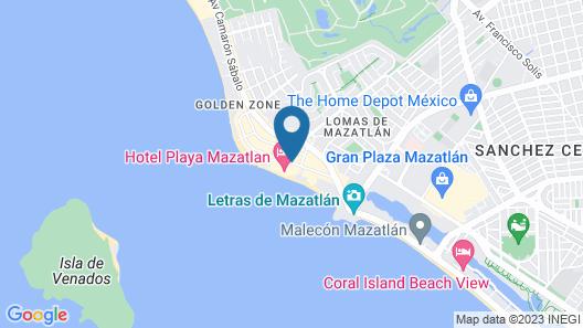 Hotel Playa Mazatlan All Inclusive Map
