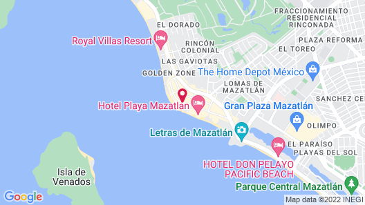 Las Flores Beach Resort Map