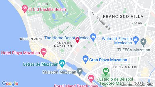 Hotel Mazatlan Map