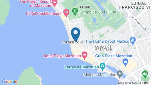 Ocean View Beach Hotel Map