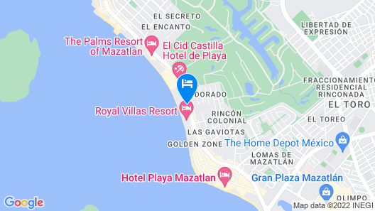 Costa De Oro Beach Hotel Map
