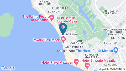 The Inn At Mazatlan Map