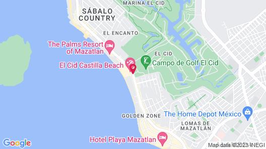 El Cid El Moro Beach Hotel Map
