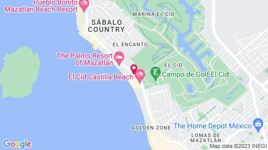 El Cid Castilla Beach Hotel Map