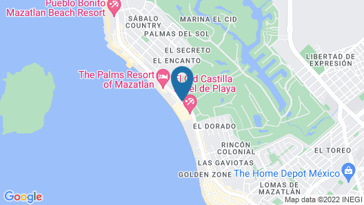 El Cid Castilla Beach Hotel Map