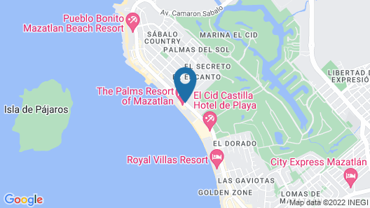 The Palms Resort of Mazatlan Map