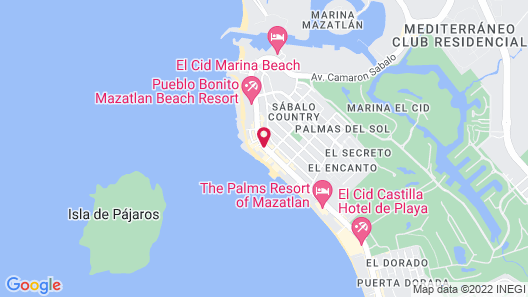 Pacific Palace Beach Tower Hotel Map