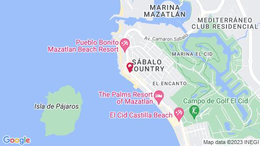 Oceano Palace Beach Hotel Map