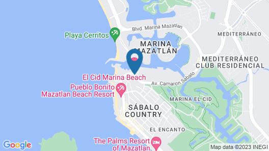 El Cid Marina Beach Hotel Map