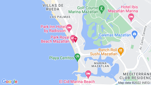 Park Royal Beach Mazatlán Map