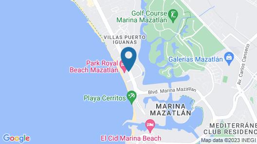 Park Royal Beach Mazatlán Map