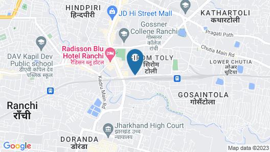 Radisson Blu Hotel Ranchi Map