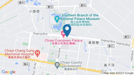 Evergreen Palace Hotel Chiayi Map