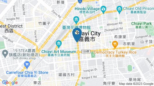 Green Hotel - Chiayi Map
