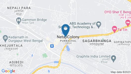 The Peerless Inn Durgapur Map
