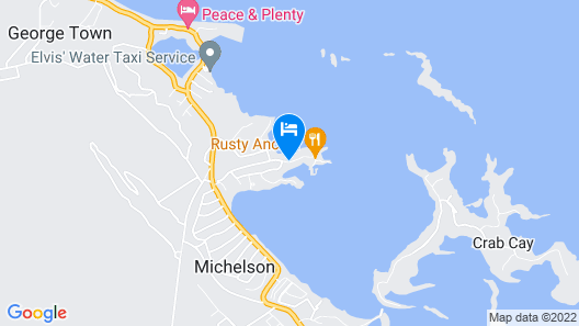 Ocean Front Villa with Private Boat and Dock at February Point Resort Map