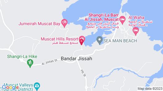 Muscat Hills Resort Map