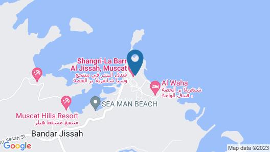Shangri Las Barr Al Jissah - Al Bandar Map