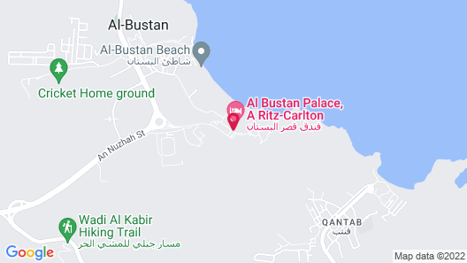 Al Bustan Palace, a Ritz-Carlton Hotel Map