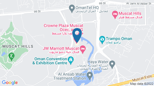 Crowne Plaza Muscat OCEC Map