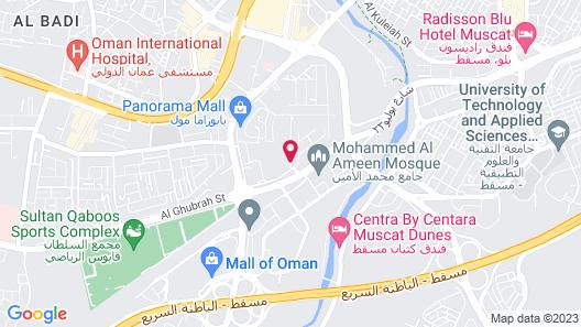 Fraser Suites Muscat Map
