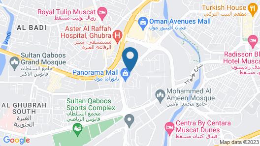 Levatio Hotel Muscat Map