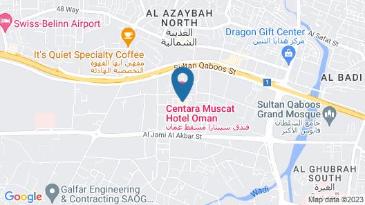 Centara Muscat Hotel Oman Map