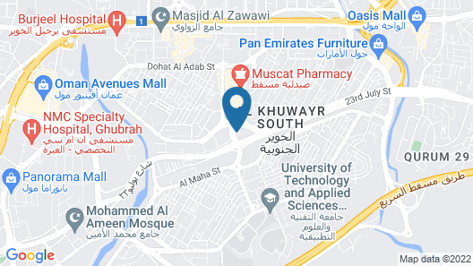 Radisson Blu Hotel, Muscat Map