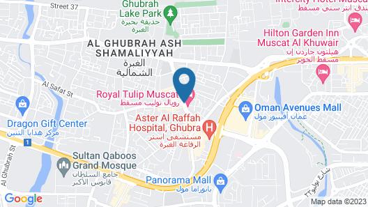 Royal Tulip Muscat Map