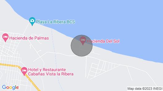 Beachfront Private Hacienda On The Sea Of Cortez With Pool Map