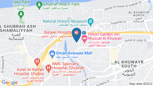 Hotel Muscat Holiday Map