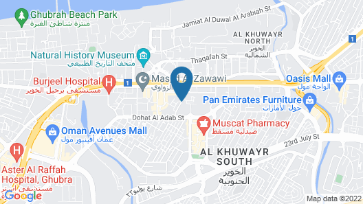 The Muscat Plaza Hotel Map