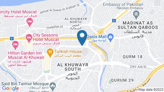 Best Western Premier Muscat Map
