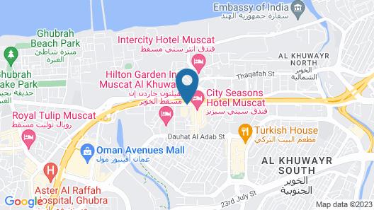 City Seasons Hotel Muscat Map