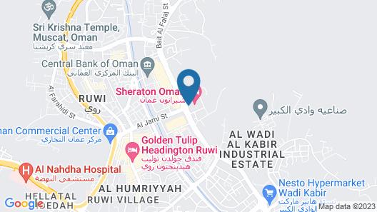 Sheraton Oman Hotel Map