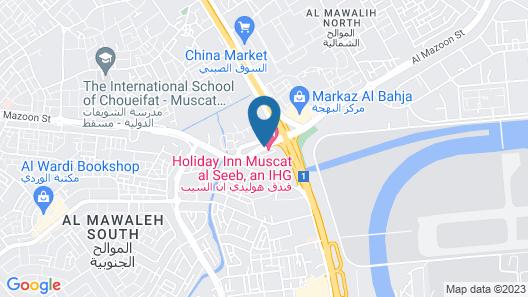 Holiday Inn Muscat Al Seeb Map