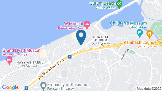 Beach Hotel Map
