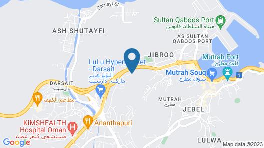 Riyam Hotel Muscat Map