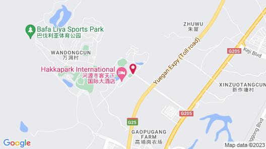 Longyuan Hot Spring Hotel - Heyuan Map