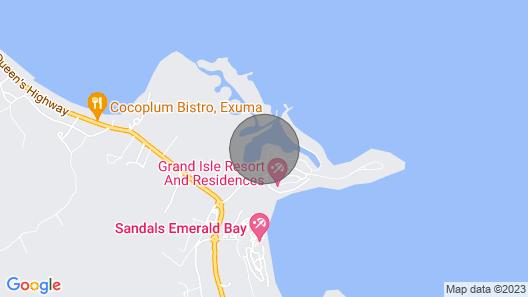 Luxury Yacht on the Water in Exuma, Emerald Bay Marina Map