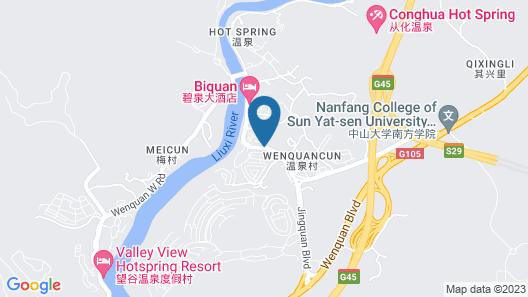 Conghua Jinyuan Wooden Hotspring No.1 Map