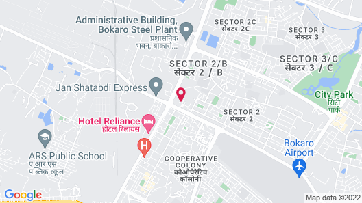 HOTEL BLUE DIAMOND BOKARO Map