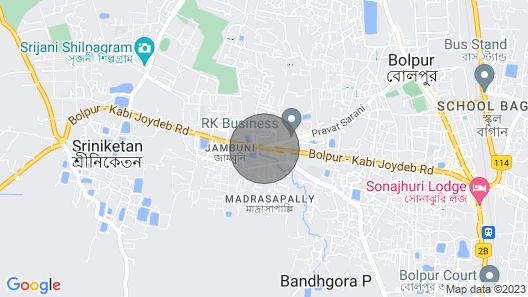Aamar Bari Ekante - Shantiniketan Map
