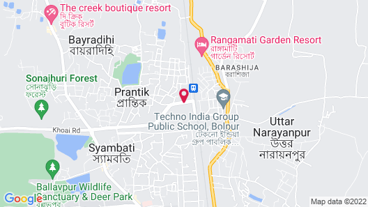 Regenta Camellia Resort & spa Map