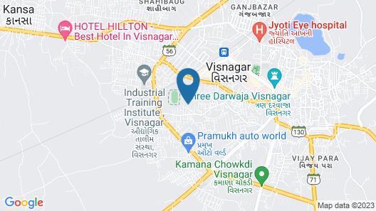 Hotel Rajvi Palace Map
