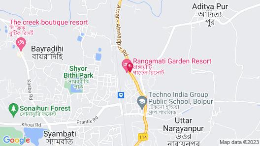 Rangmati Garden Resort Map