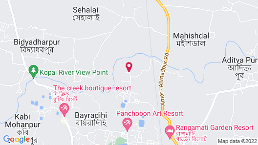 The Gharana Hotel and Resort Map